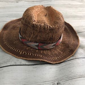 Cute Brown and Patterned Stripe Sunhat